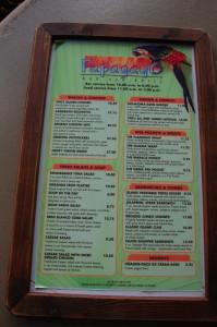 Renaissance Aruba menu