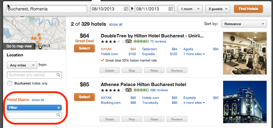 Finding Hilton Best Rate Guarantees