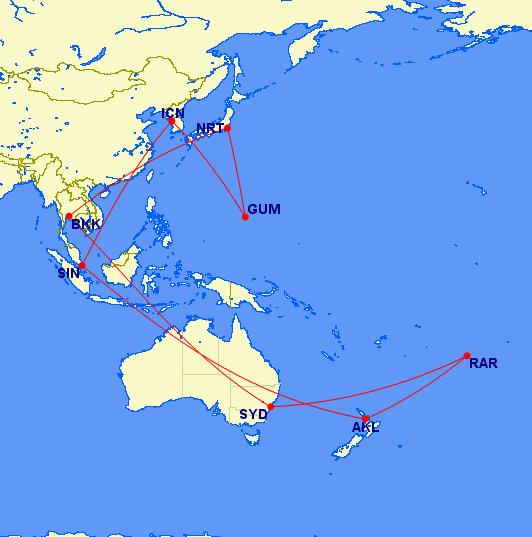 Pacific Hopper US Airways