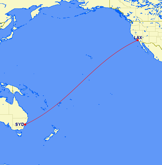Australia/New Zealand = 80,000 miles alone