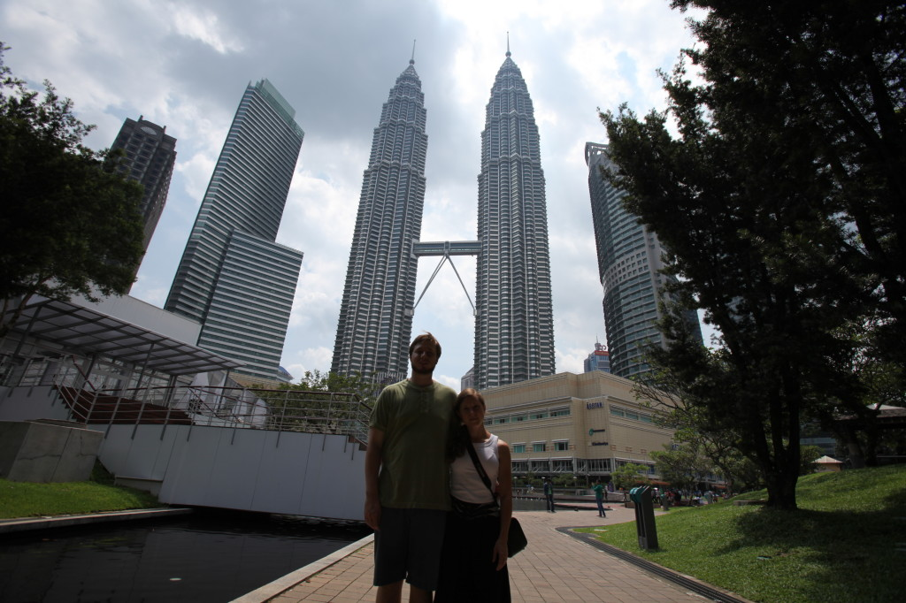 Drew and Carrie in Kuala Lumpur