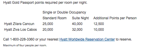 Hyatt All inclusives