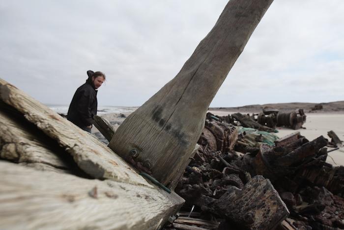 Shipwreck on Skeletons Coast Namibia