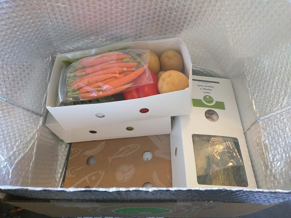 Unboxing our veggie box