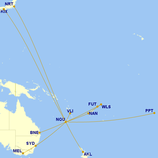 Complete AirCalin Route Map
