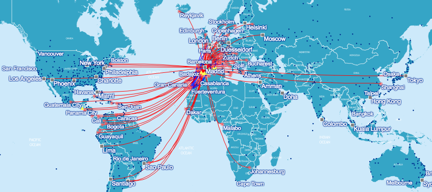 Iberia route map - Travel is Free on taca route map, biman route map, air china international route map, aegean route map, lufthansa route map, island air route map, independence air route map, ba cityflyer route map, europe by air route map, s7 route map, eastern air lines route map, luxair route map, air niugini route map, houston route map, tiger air route map, saudia route map, xl airways route map, royal jordan route map, ethiopian air route map,