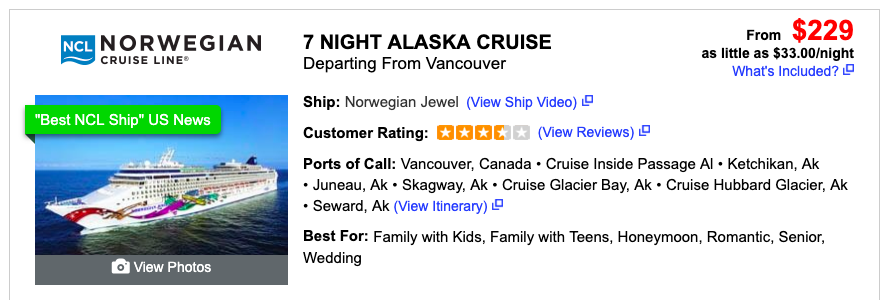 Cheap Repositioning Cruise Site